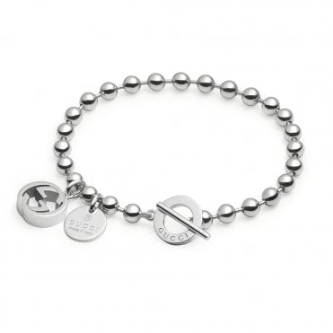 Boule Sterling Silver Bracelet With Two Charms