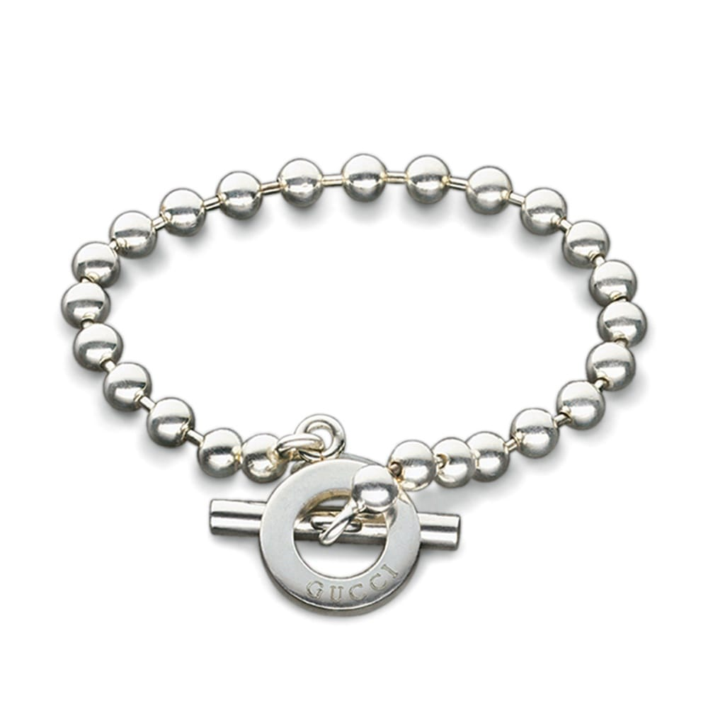 Gucci Boule Sterling Silver T-Bar Bracelet From Berry's ...