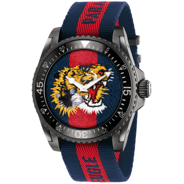 Dive XL Tiger Black PVD Case Tiger Dial Strap Watch