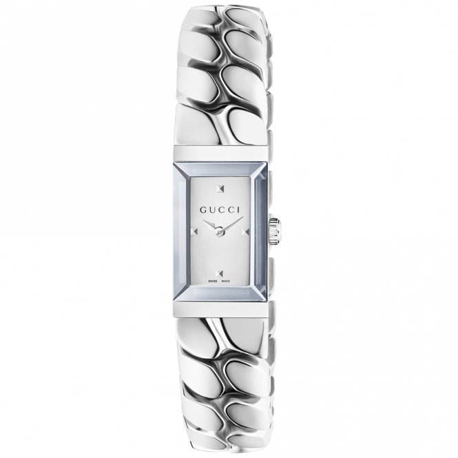 Gucci G-Frame Small Silver Dial Ladies Chain Bracelet Watch