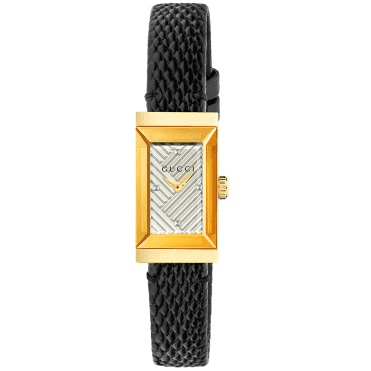 G-Frame Small Yellow Gold PVD Silver Dial Ladies Watch