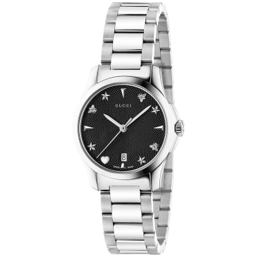 G-Timeless 27mm Black Motif Dial Ladies Bracelet Watch