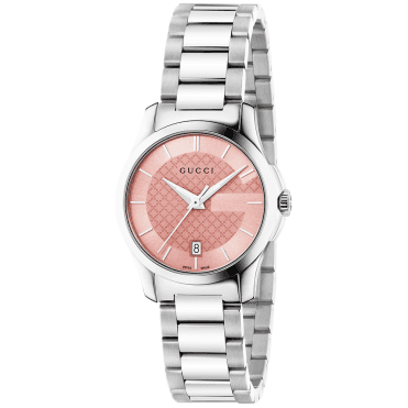 G-Timeless 27mm Pink Dial Ladies Bracelet Watch