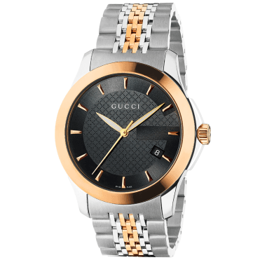 G-Timeless 38mm Black/Rose Gold Dial & Two-Tone Bracelet Watch