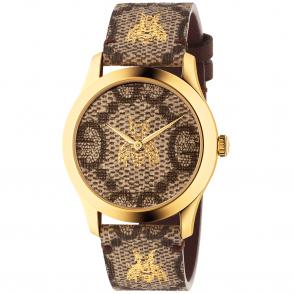 5e72de35d9e Gucci Le Marche des Merveilles 38mm Blue Red Nylon Strap Watch