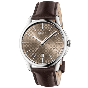 d70b5a275b1 G-Timeless 40mm Brown Dial   Leather Strap Men s Watch