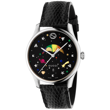 G-Timeless Slim 36mm Black/Rainbow Moonphase Dial Watch
