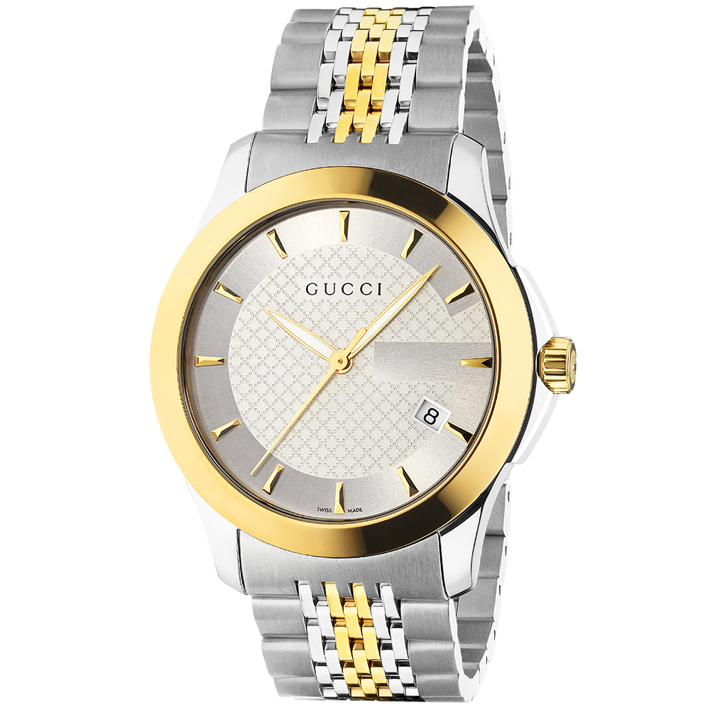 052a9dd2468 Gucci G-Timeless Stainless Steel   Yellow Gold PVD Men s Watch