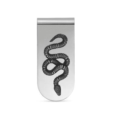 b3b68b0dbec1 Garden Aureco Black Sterling Silver Snake Money Clip