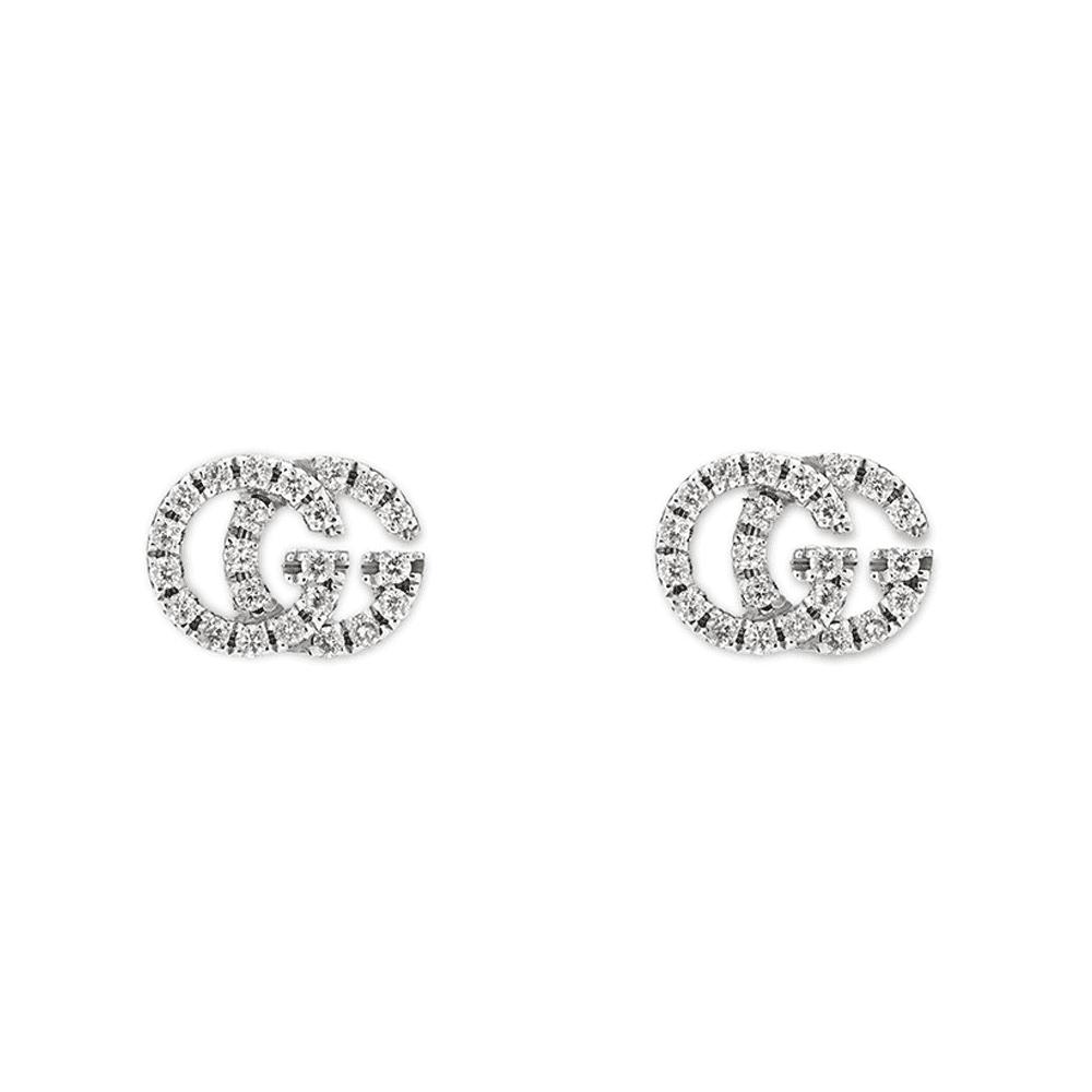 79e5e7725 Gucci Gucci GG Running 18ct White Gold Diamond Stud Earrings