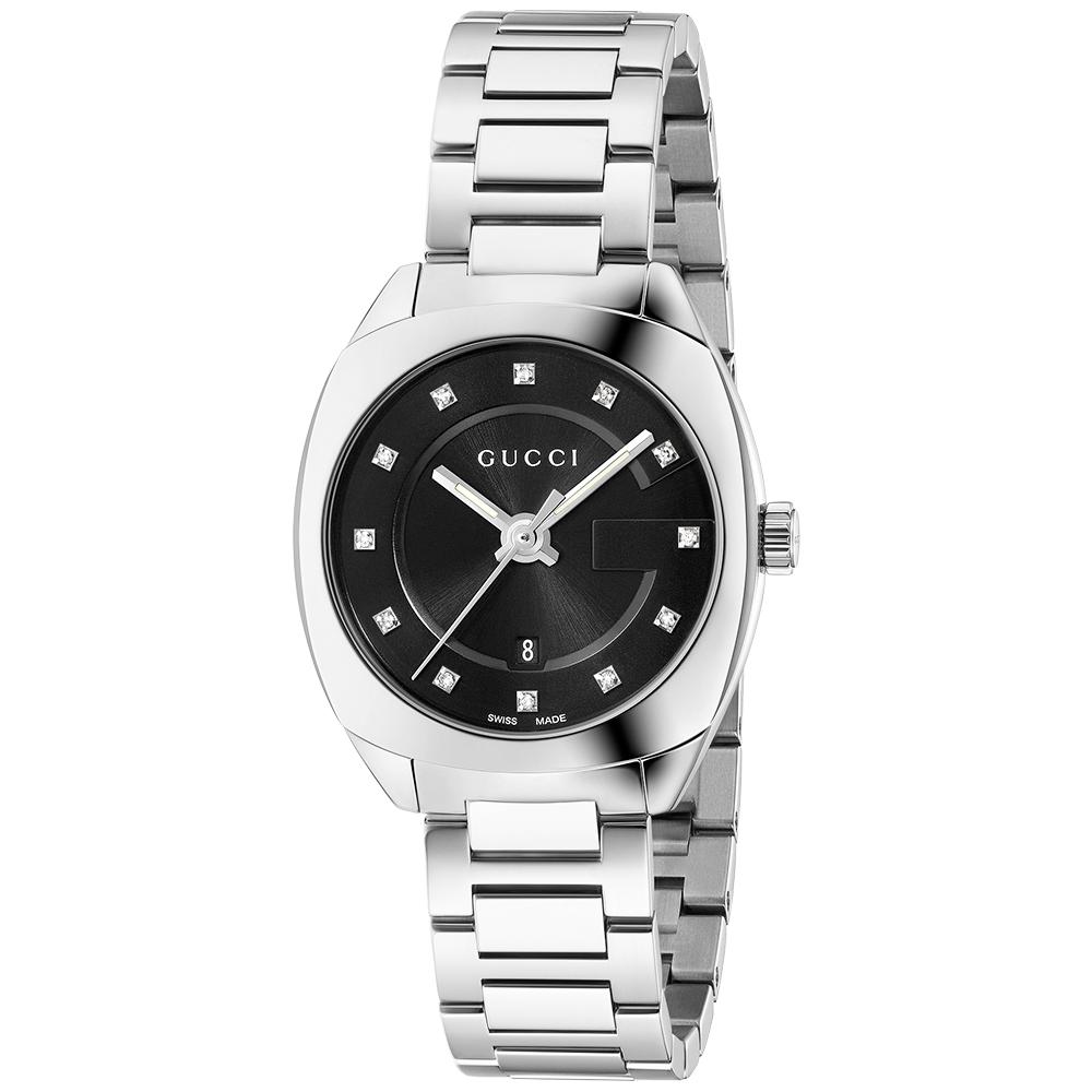 7921339e189 Gucci GG2570 29mm Black Diamond Dot Dial Ladies Bracelet Watch YA142503