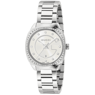 GG2570 29mm Silver Diamond Dial & Bezel Ladies Bracelet Watch