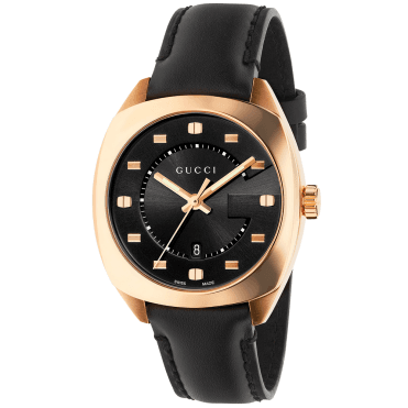 GG2570 37mm Pink Gold PVD & Black Dial Watch
