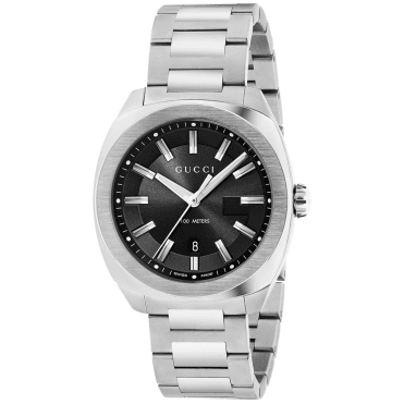 GG2570 41mm Sunray Black Dial Men's Bracelet Watch