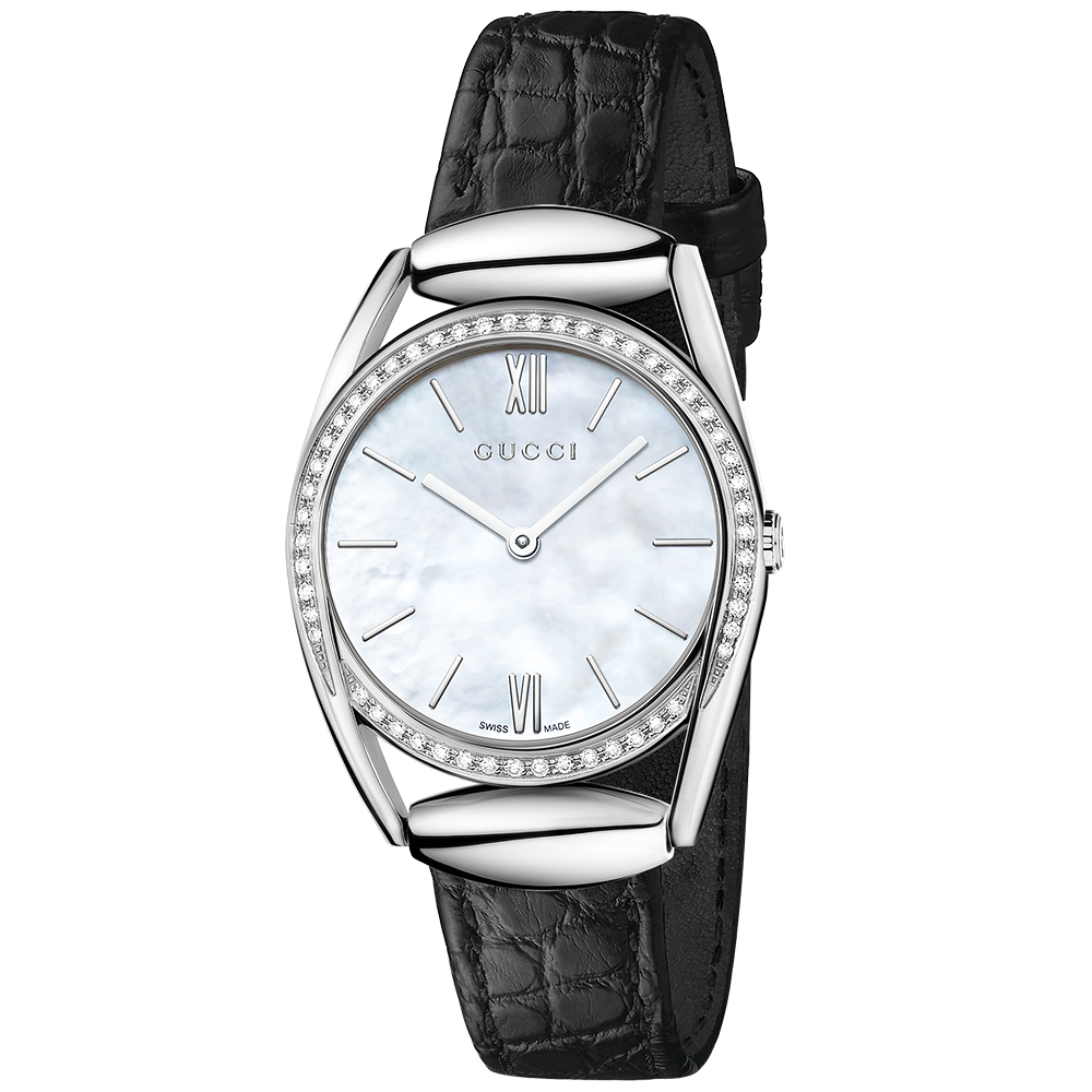 Gucci Horsebit 30mm Diamond Set Bezel Ladies Strap Watch
