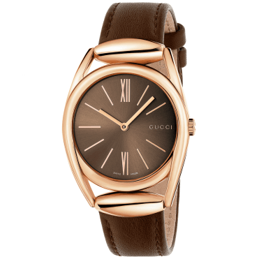 Horsebit 34mm Rose Gold PVD & Brown Dial Ladies Watch