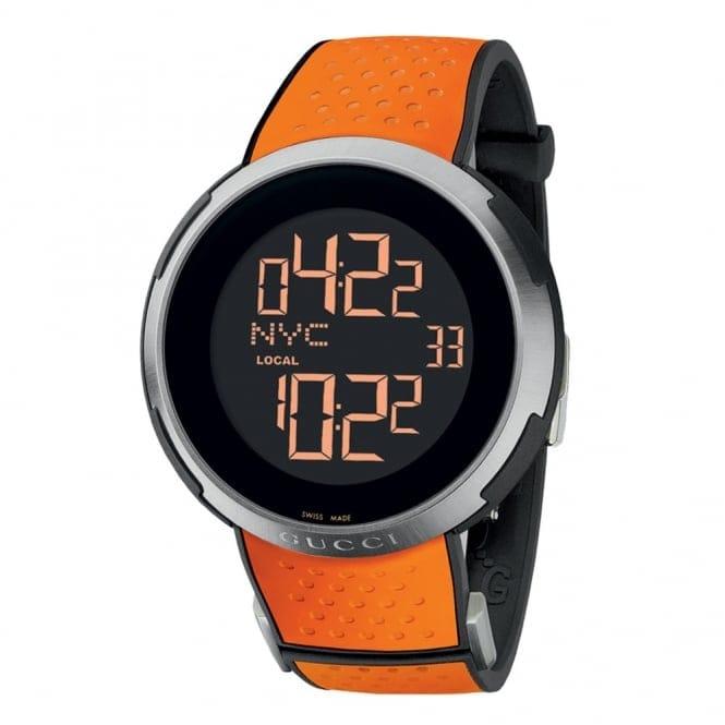 gucci i gucci digital display and orange rubber