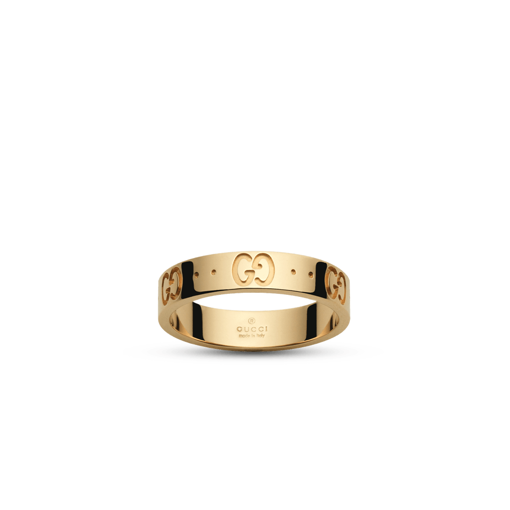 gucci icon thin yellow gold ring ybc073230001 from beery s