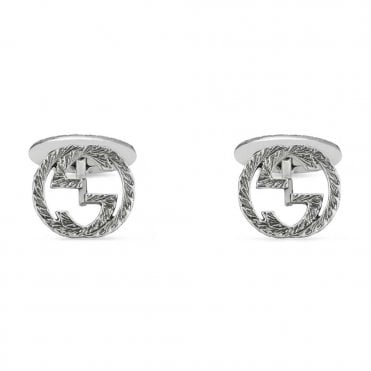 Interlocking G Aureco Silver Cufflinks