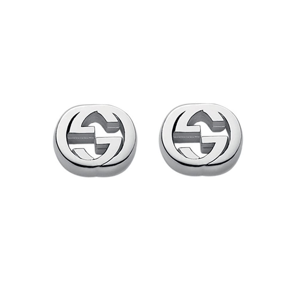 c5c7edae896 Gucci Interlocking Silver Stud Earrings From Berry s Jewellers