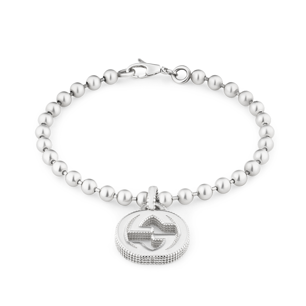 b4a20f383 Gucci Interlocking G Sterling Silver Boule Link Bracelet From Berry's