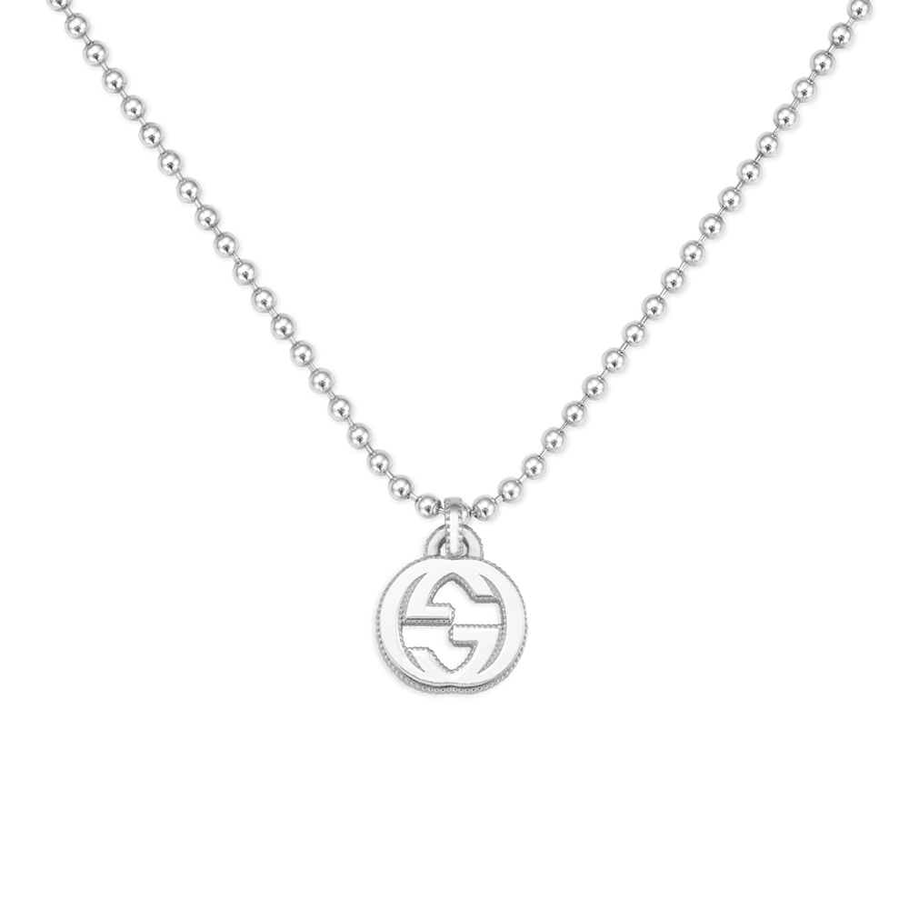 Gucci Interlocking G Sterling Silver Boule Necklace From