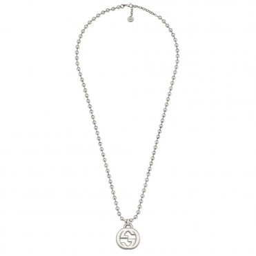 Interlocking G Sterling Silver Large Boule Necklace