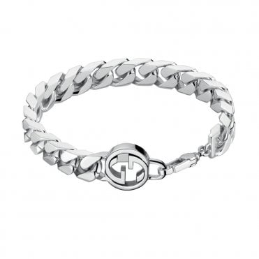Interlocking G Unisex Silver Bracelet