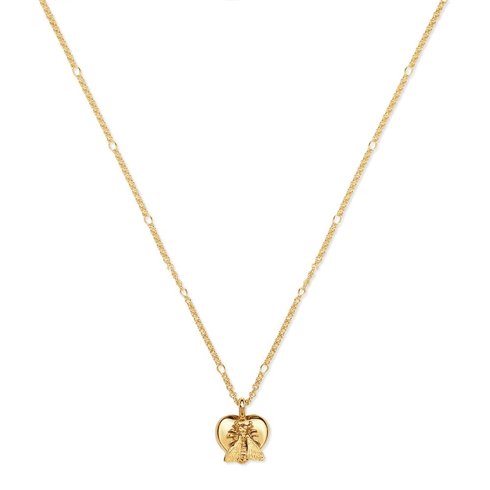 e267da1aa0f Gucci Gucci Gucci Le Marche Des Merveilles 18ct Yellow Gold Bee Heart  Pendant