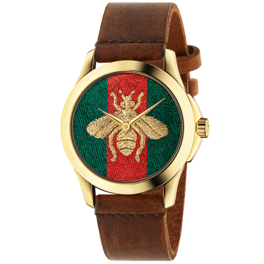 Le Marche des Merveilles 38mm Embroidered Golden Bee Dial Watch