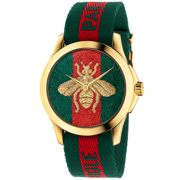 Le Marche des Merveilles 38mm Green/Red Nylon Strap Watch