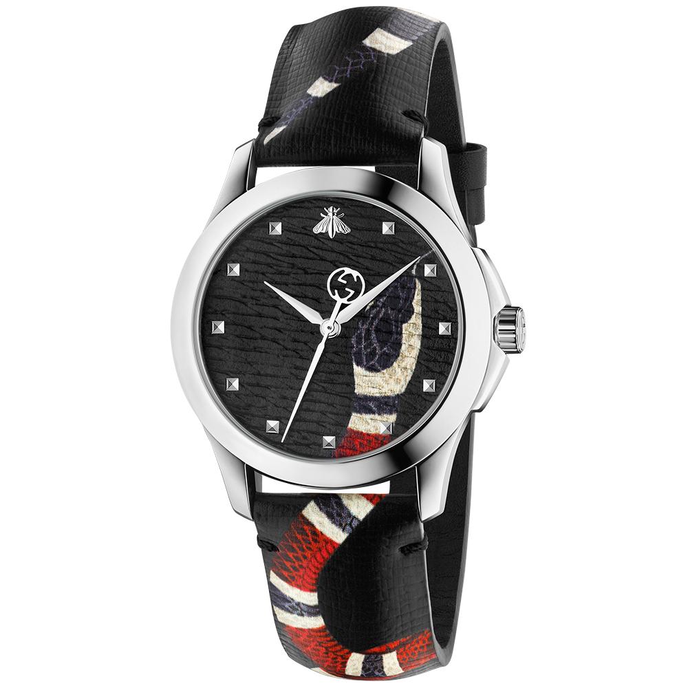 8f56ed51a00 Gucci Le Marche des Merveilles 38mm Snake Print Dial   Strap Watch