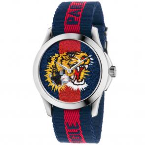 14a61c56a9b Le Marche des Merveilles 38mm Tiger Dial   Blue Red Nylon Strap Watch