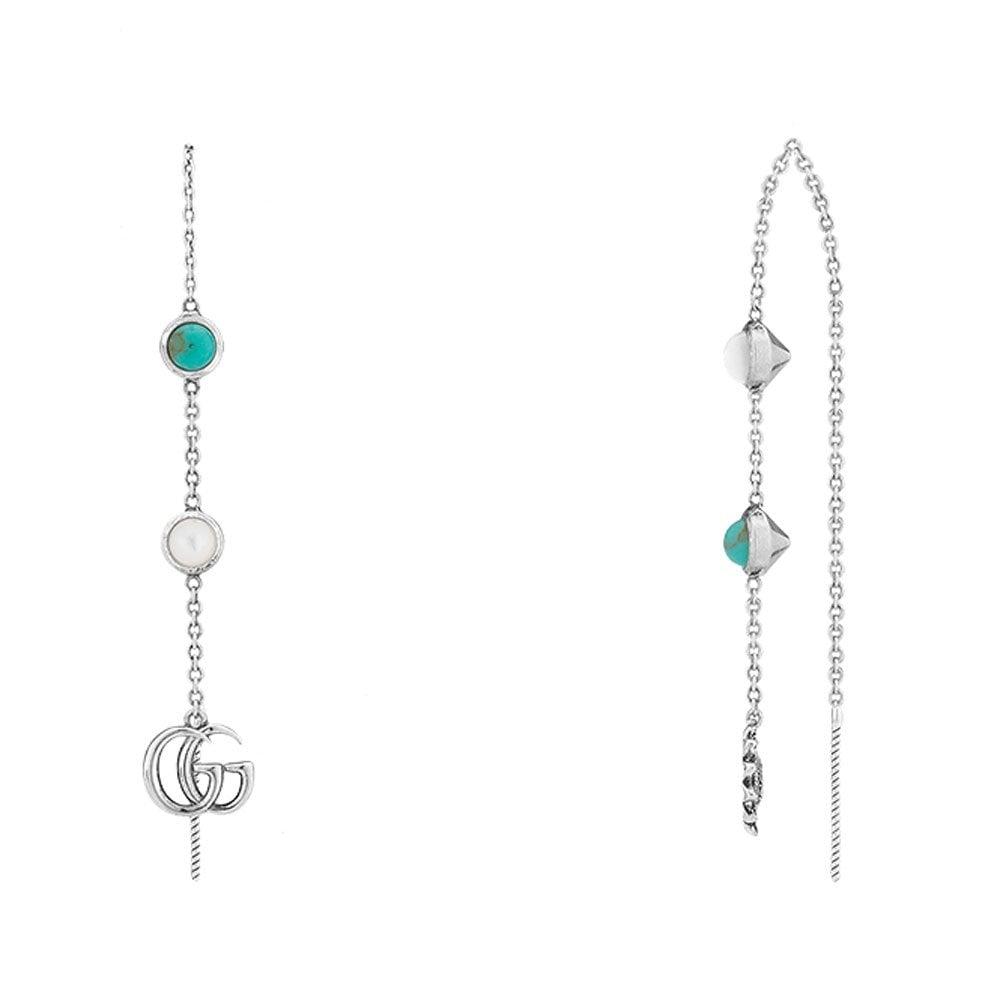 f529d29531d Gucci Marmont Sterling Silver Drop Earrings YBD52740600100U