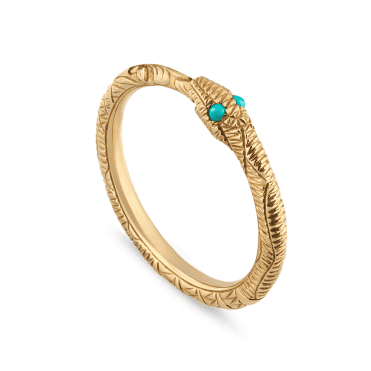 3d1686edbd5 Ouroboros Snake 18ct Yellow Gold And Turquoise Ring. Gucci ...