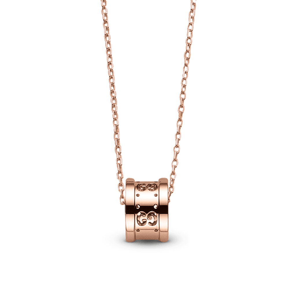 7f76a066146 Gucci Pink Gold Icon Twirl Necklace From Berry s Jewellers