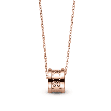 Pink Gold Icon Twirl Necklace