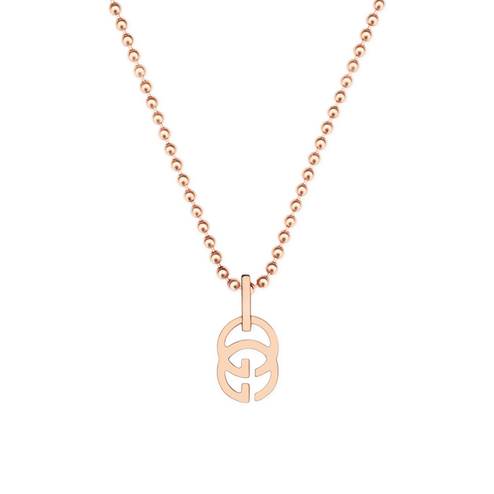 ed72996e843 Gucci Running G 18ct Pink Gold Necklace From Berry s Jewellers