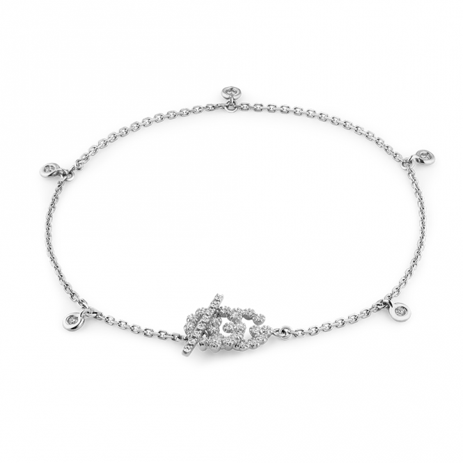 b867b645783 G18ct YBA481671002018. gucci running g 18ct white gold   diamond set  bracelet