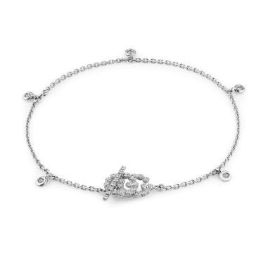 Running G 18ct White Gold & Diamond Set Bracelet