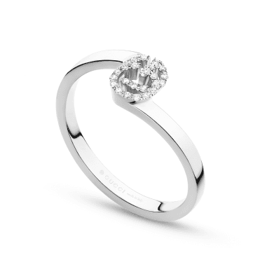 Running G 18ct White Gold Diamond Stacking Ring