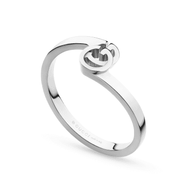 Running G 18ct White Gold Stacking Ring