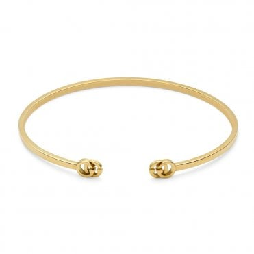 Running G 18ct Yellow Gold Bangle