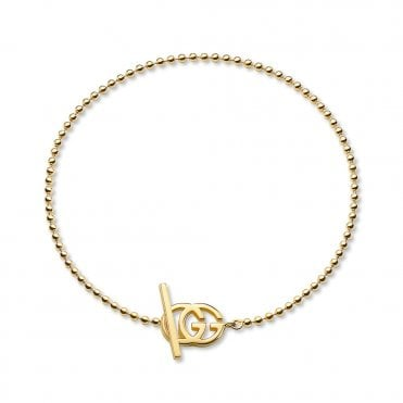 Running G 18ct Yellow Gold Boule Bracelet