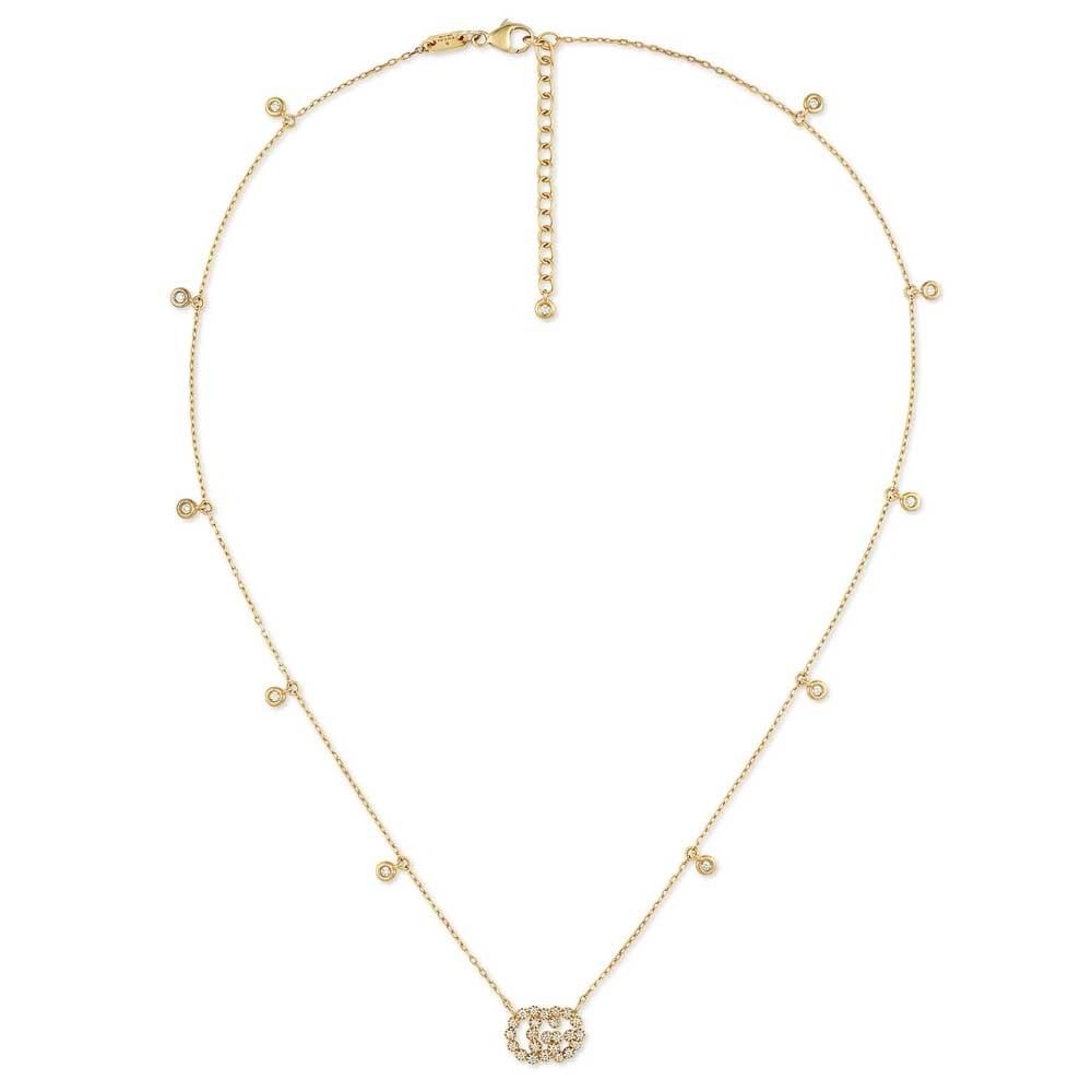 e788653ab19 Gucci Running G 18ct Yellow Gold Diamond Necklace YBB47923100100U