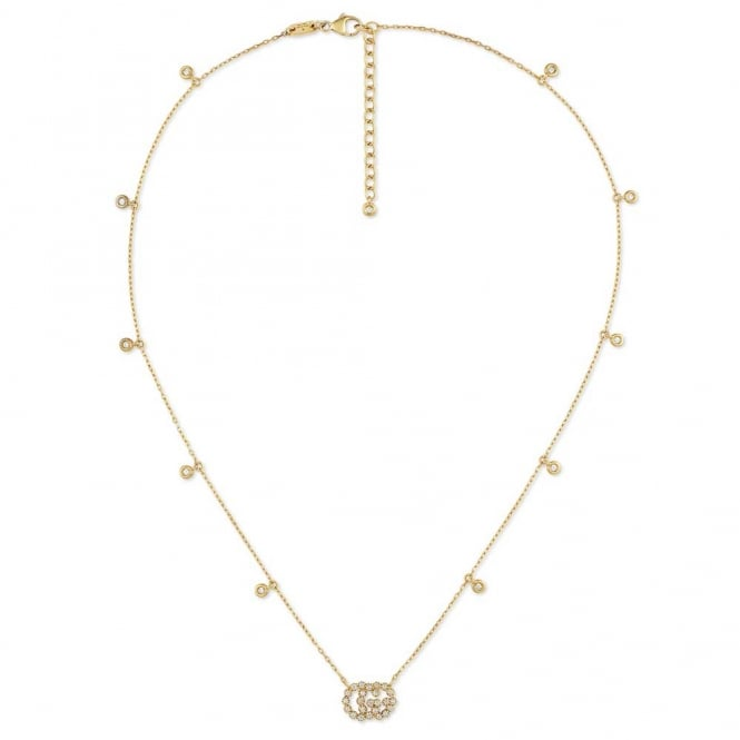 Gucci Running G 18ct Yellow Gold Diamond Necklace