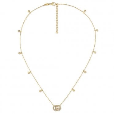 Running G 18ct Yellow Gold Diamond Necklace