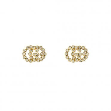 Running G 18ct Yellow Gold Diamond Stud Earrings