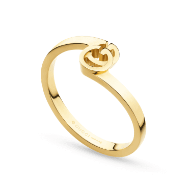 Running G 18ct Yellow Gold Stacking Ring