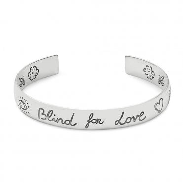 Sterling Silver Blind For Love Cuff Bangle